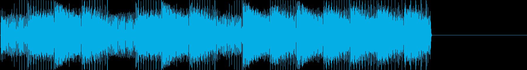 レトロゲームなチップチューンジングル13の再生済みの波形