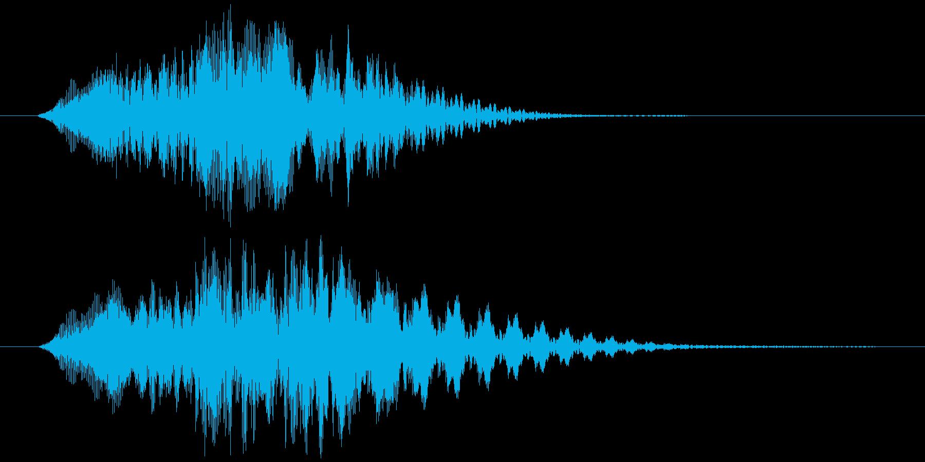可愛く動く風 (オノマトペ) ヒュイッ の再生済みの波形