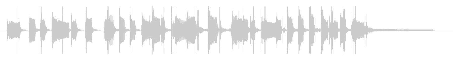 グルーヴィ&ファンキーなベースのロゴの未再生の波形