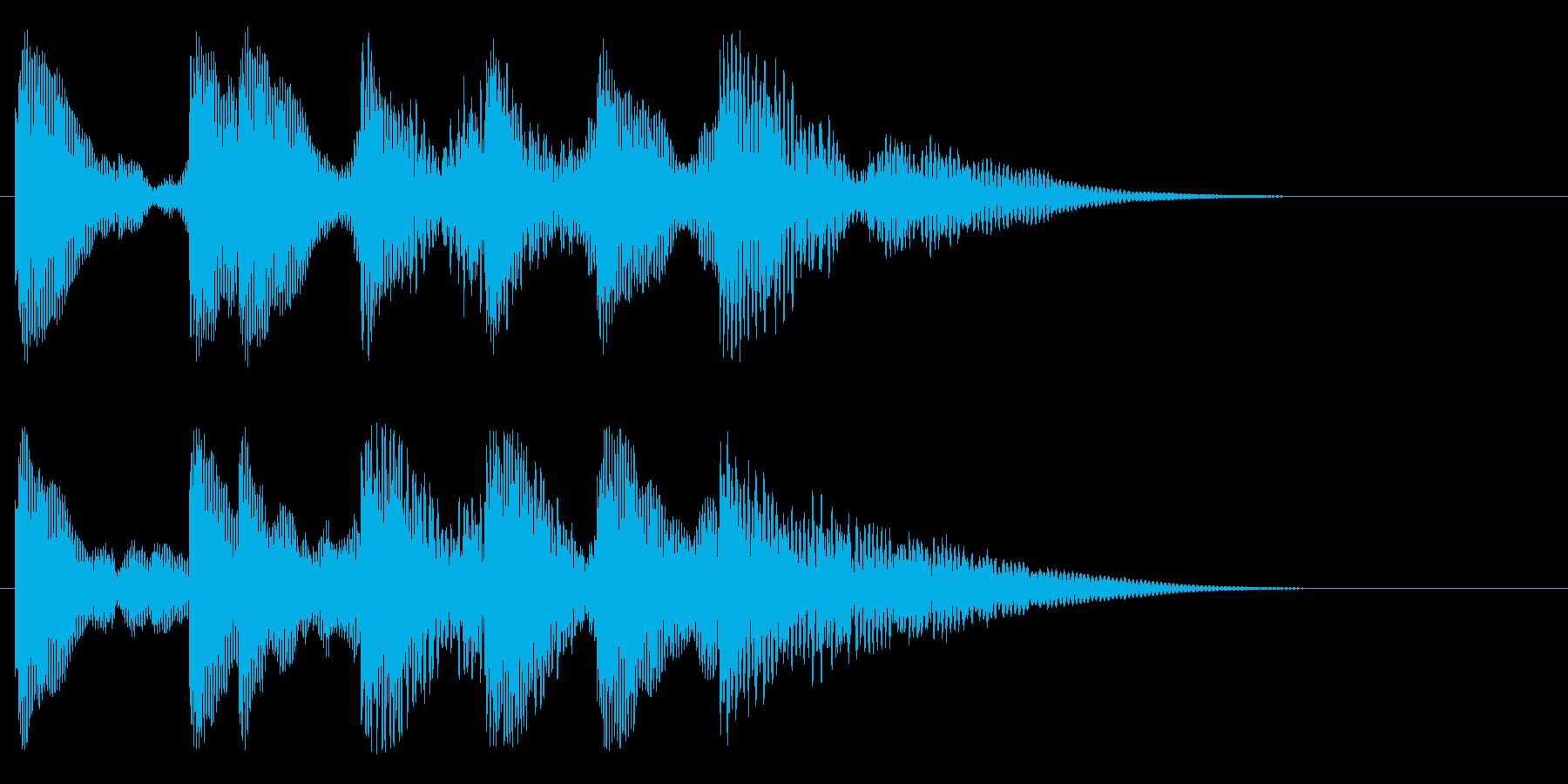トントトントントントントンーの再生済みの波形