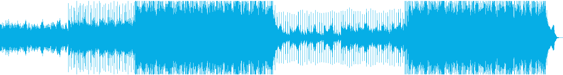 ロックでメタルな曲の再生済みの波形