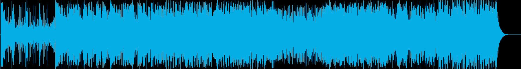 緊張感とスピード感あふれる戦闘シーン楽曲の再生済みの波形