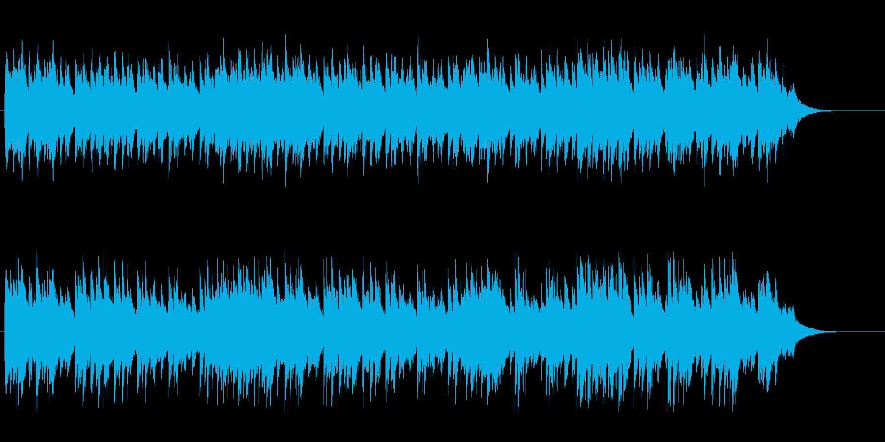 夏の終りのアコースティックスローポップスの再生済みの波形
