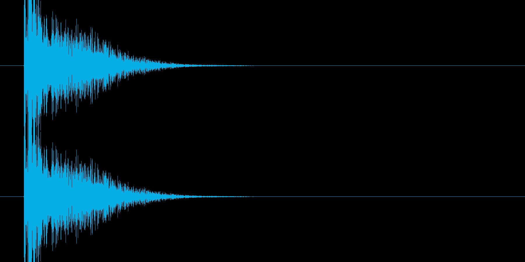 バンという大きめな銃声、破裂音05ですの再生済みの波形