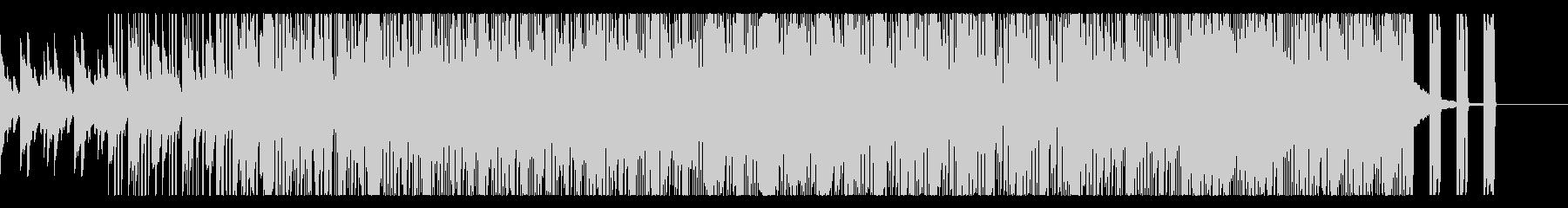 軽快でリズミカルなチルアウトの未再生の波形