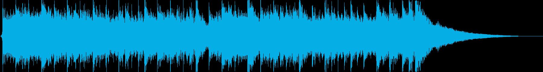 透明感や疾走感のある生音系のジングルの再生済みの波形