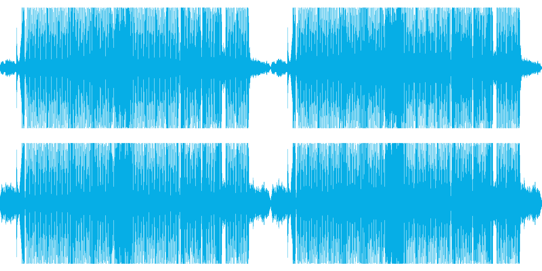 ポップで可愛いハロウィンをイメージした曲の再生済みの波形