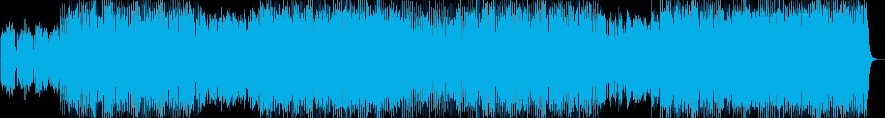 【和洋折衷】篠笛と四つ打ちハウスビートの再生済みの波形