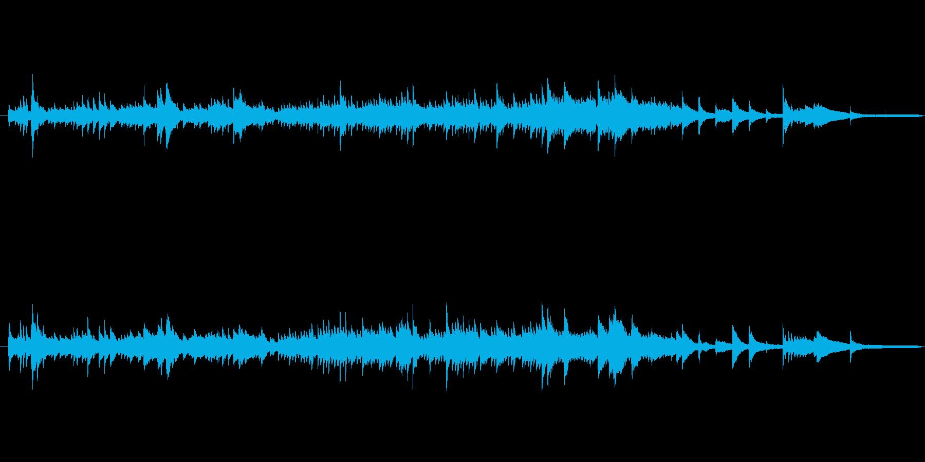 ファンタジーな雰囲気の静かなピアノ曲の再生済みの波形