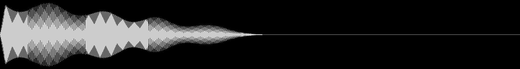 ピコッ(決定/選択/ファミコン/ピコピコの未再生の波形