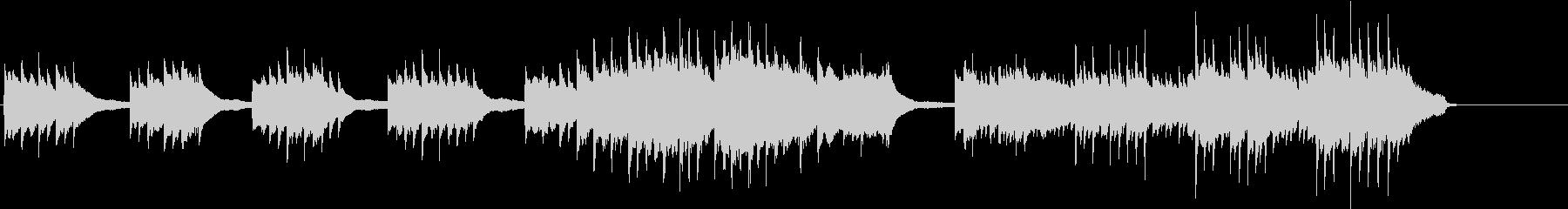2台ピアノで旋律が印象的なBGMの未再生の波形