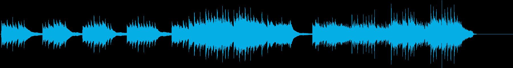 2台ピアノで旋律が印象的なBGMの再生済みの波形