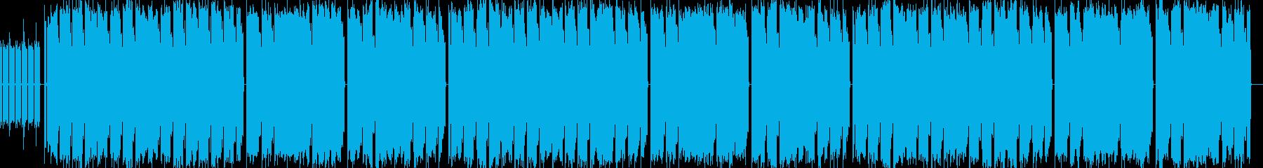 校歌を連想させるチップチューン曲の再生済みの波形