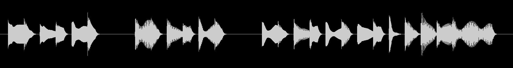 困る のんびり アイキャッチ#2の未再生の波形