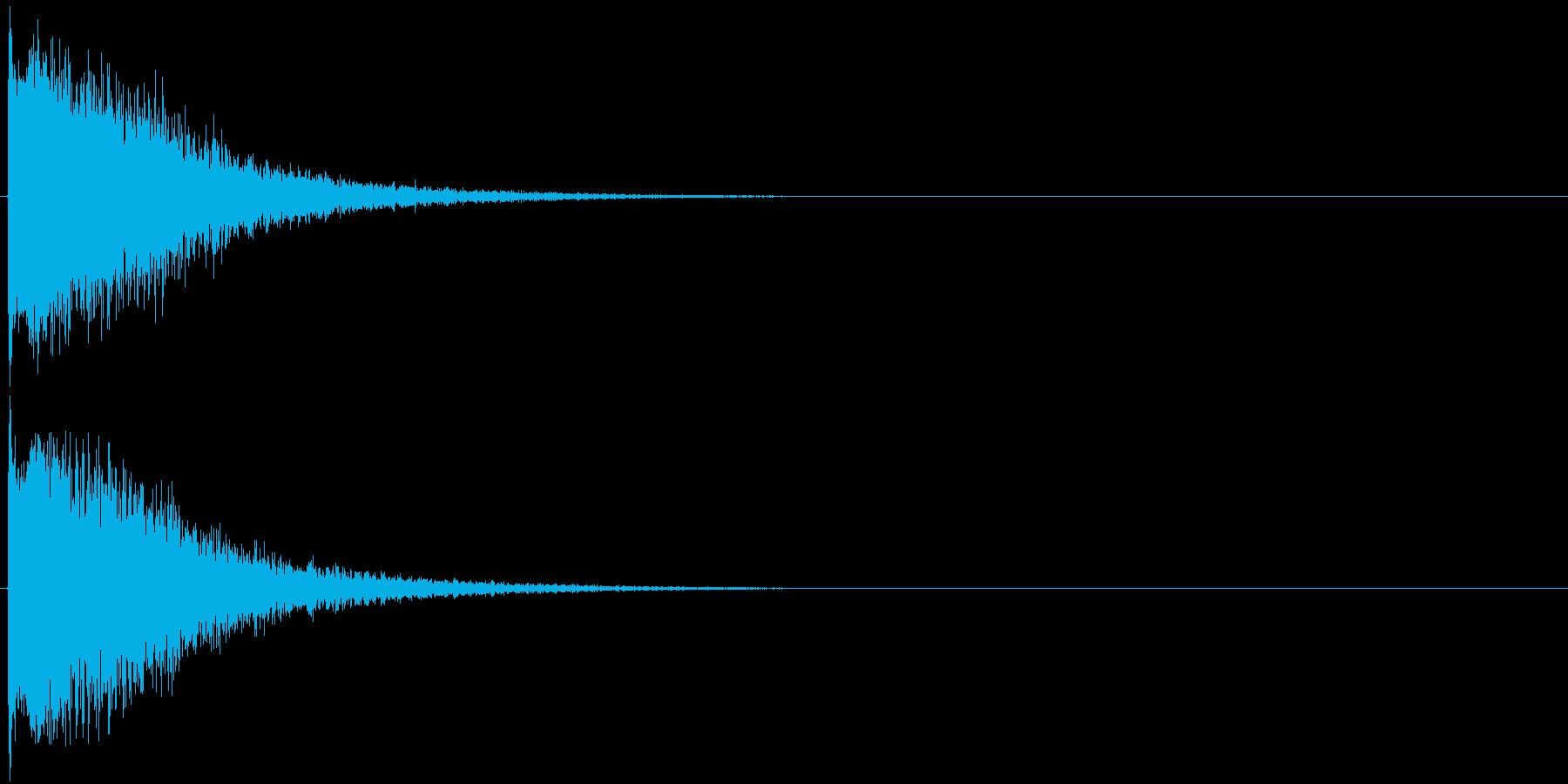 効果音_ピソーン_飛び出しの再生済みの波形
