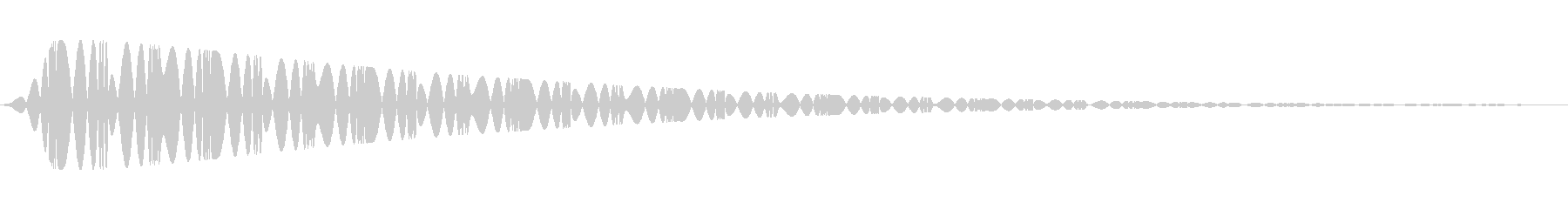 特撮にありそうな電子音の未再生の波形