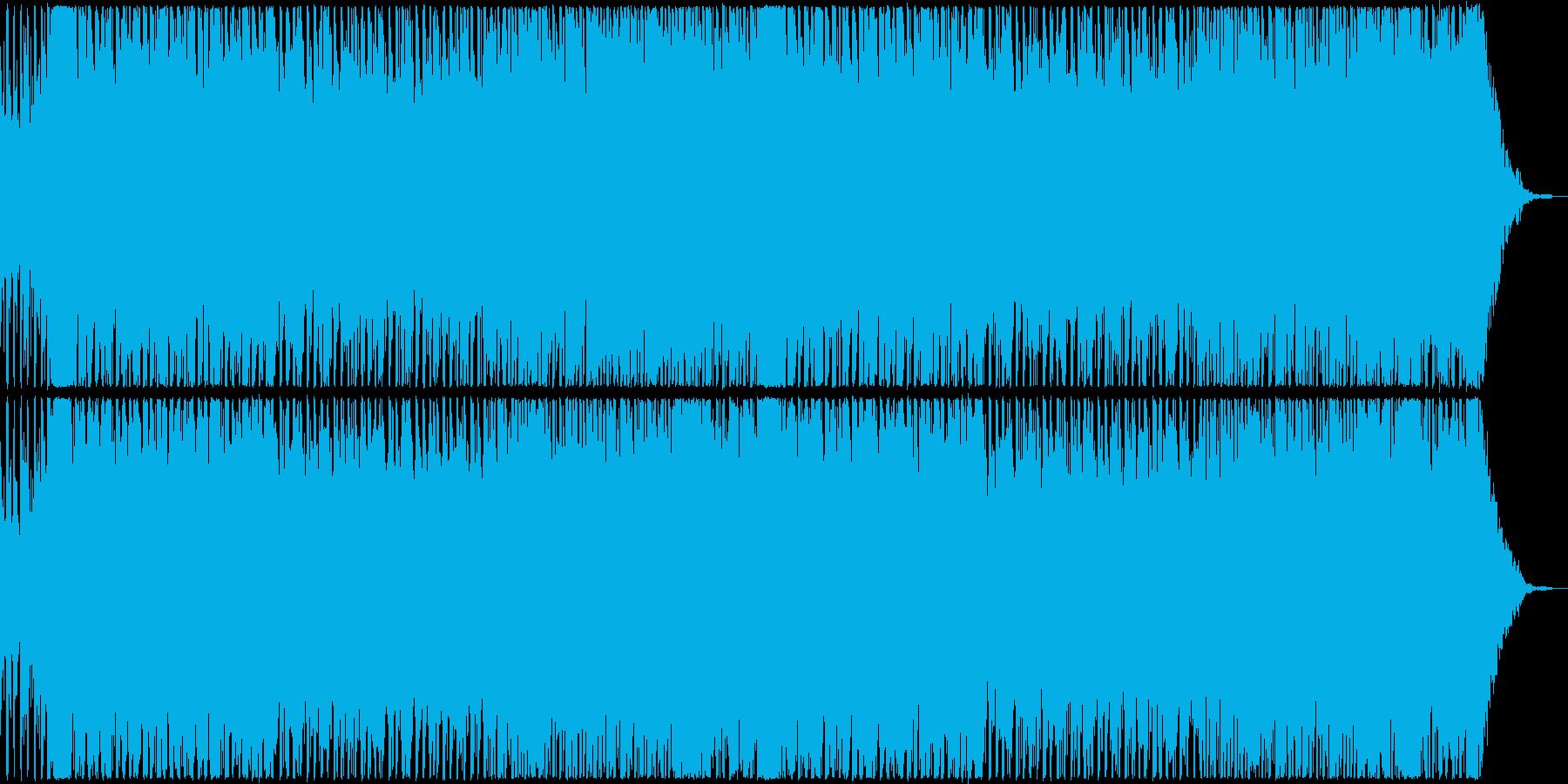 昭和の雰囲気を感じるトランス曲の再生済みの波形