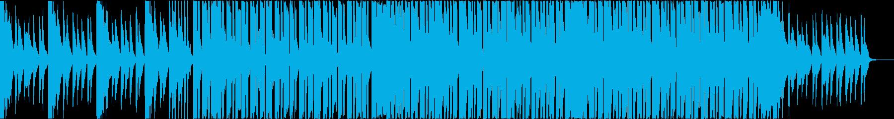 太いベース、無機質な印象のエレクトロニカの再生済みの波形