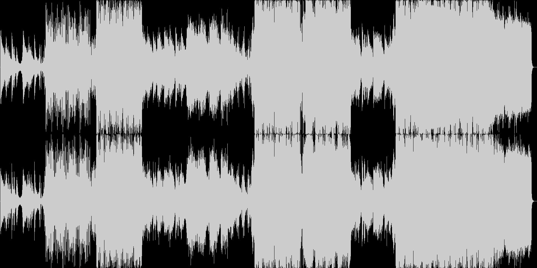 美しい英語ボーカルとピアノのバラードの未再生の波形
