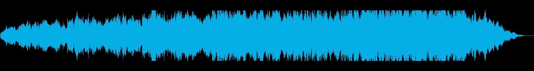 ファンタジーで勢いのあるシンセ管弦楽器の再生済みの波形