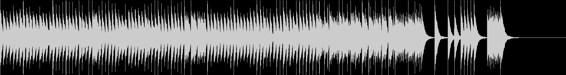 かわいく軽快リズミカルなピアノソロの未再生の波形