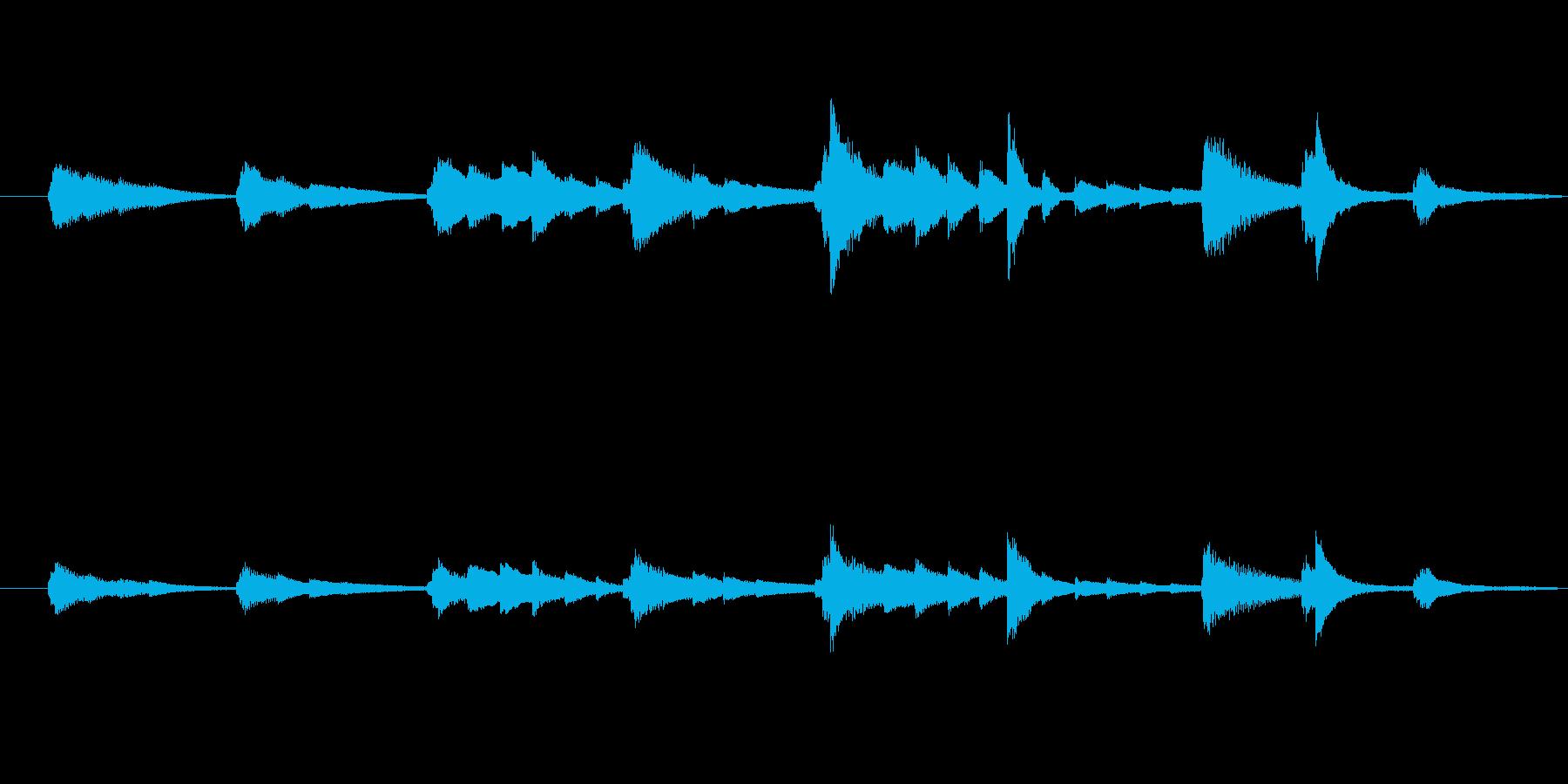 おしゃれなジングル、ピアノソロの再生済みの波形