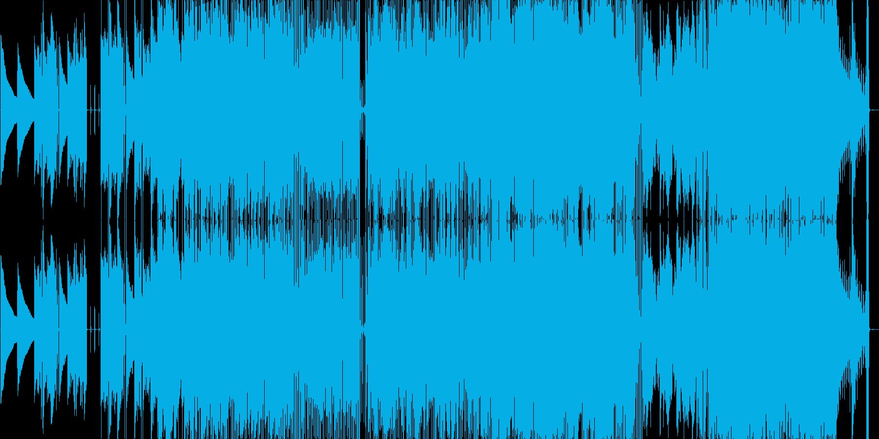 おしゃれな女性ボーカルのポップスの再生済みの波形