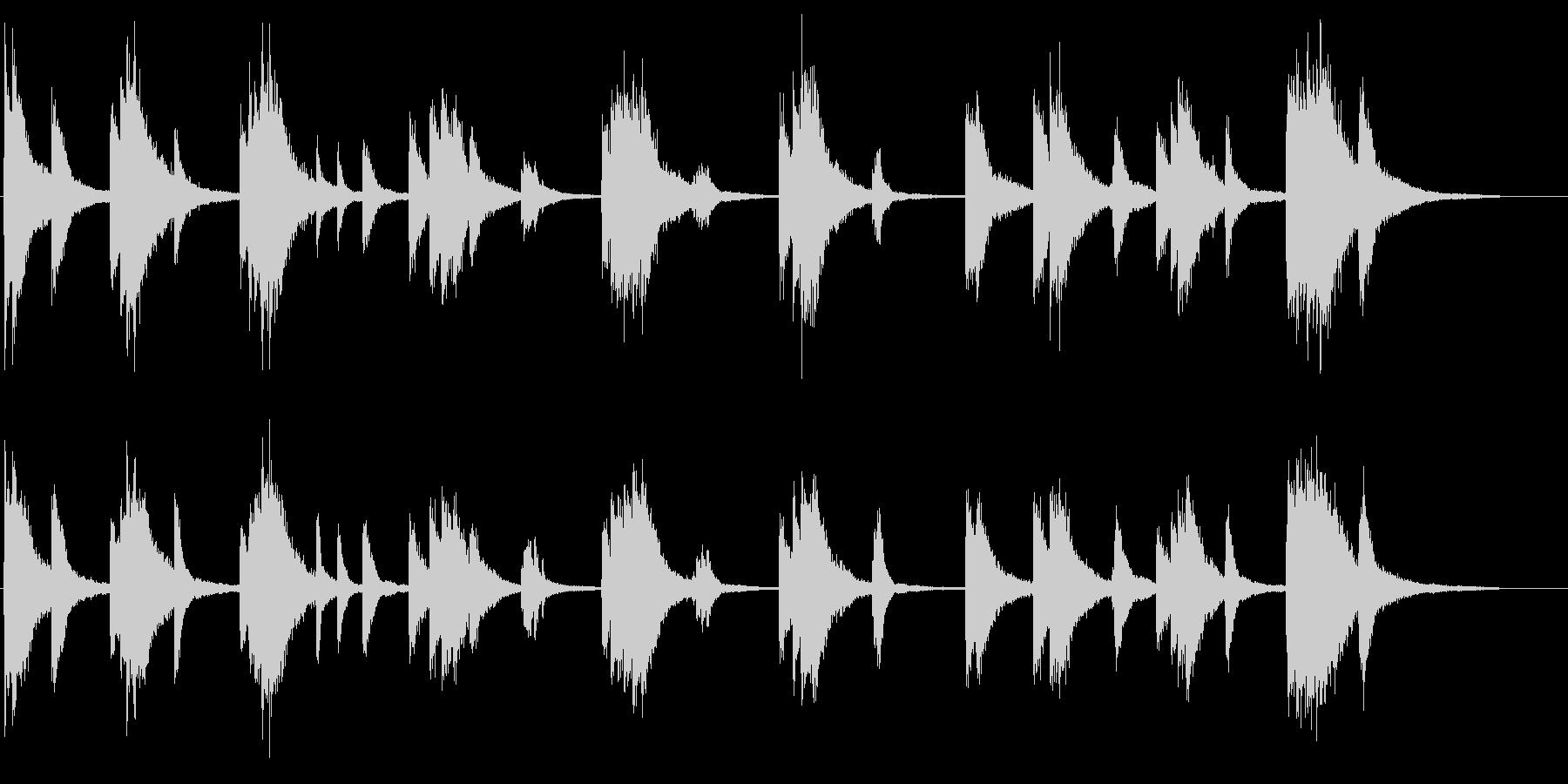 重厚なピアノサウンドの未再生の波形
