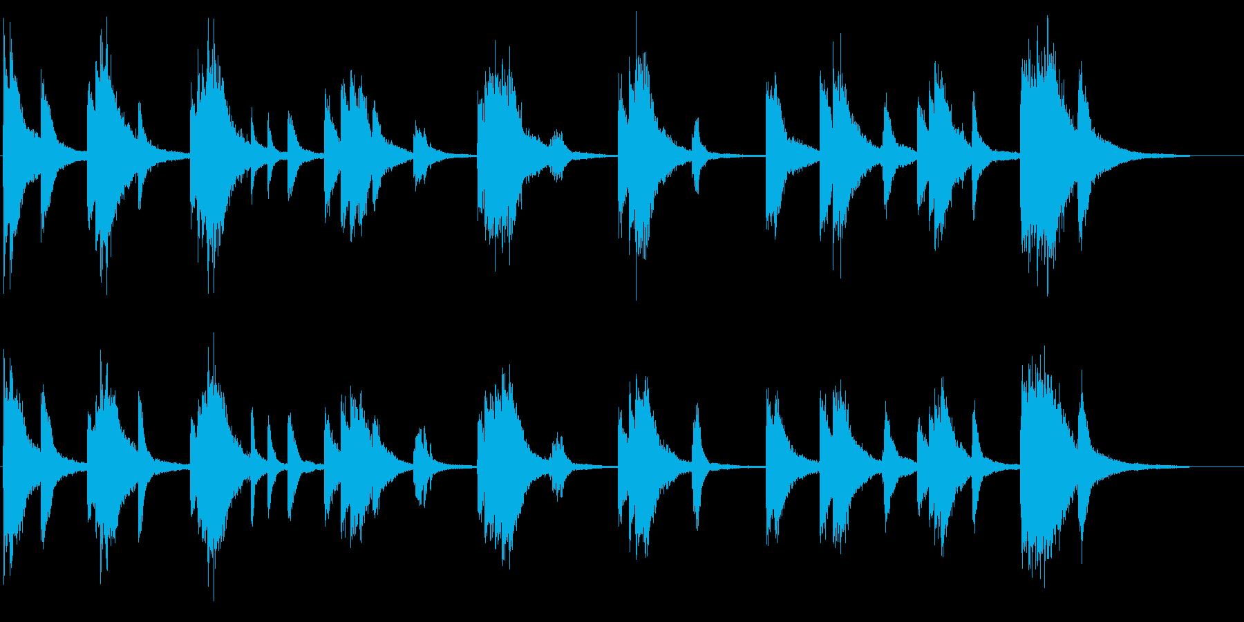 重厚なピアノサウンドの再生済みの波形