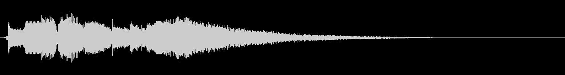 生演奏!切な明るいエレキギターのジングルの未再生の波形