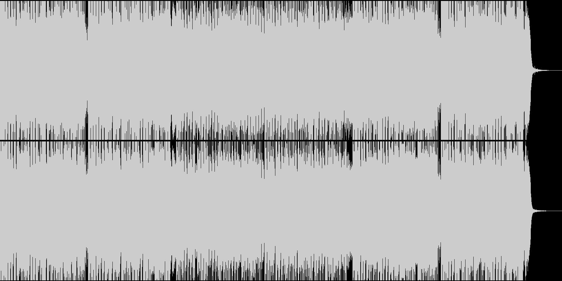 軽快でポップなEDMサウンドの未再生の波形