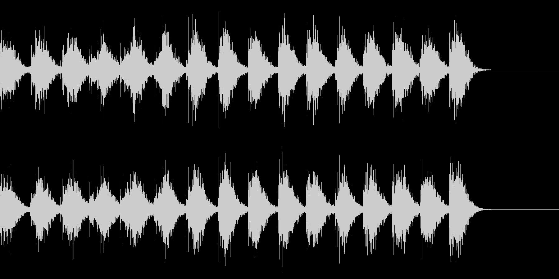 手拍子による拍手の効果音 01の未再生の波形