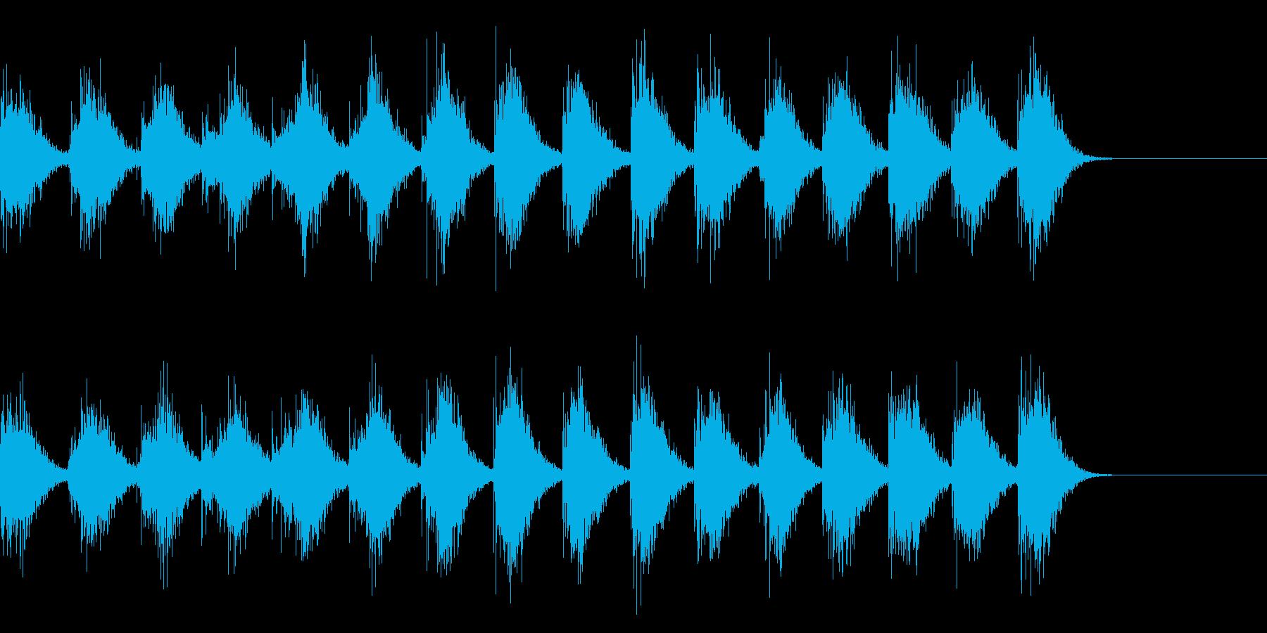 手拍子による拍手の効果音 01の再生済みの波形