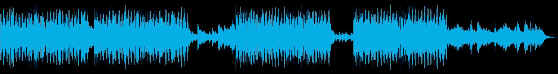 ガムランとシンセが融合したテクノの再生済みの波形