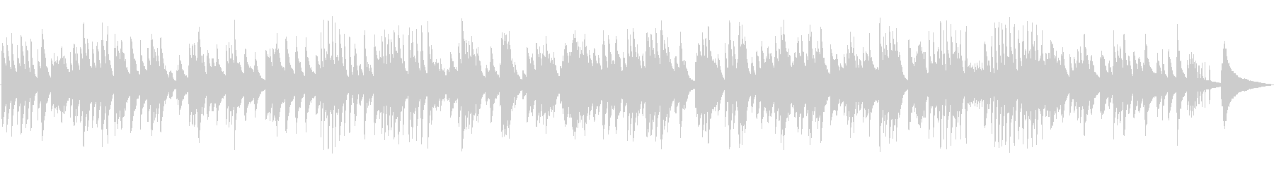 ゆったりとしたジャズラウンジピアノソロの未再生の波形