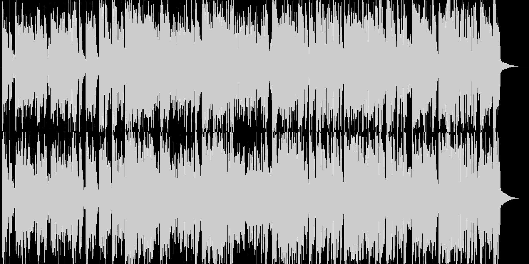 エレクトリックなフュージョンジングルの未再生の波形