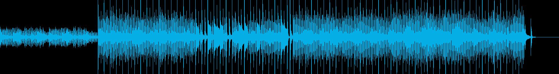 子供向け番組BGM風なポップスの再生済みの波形