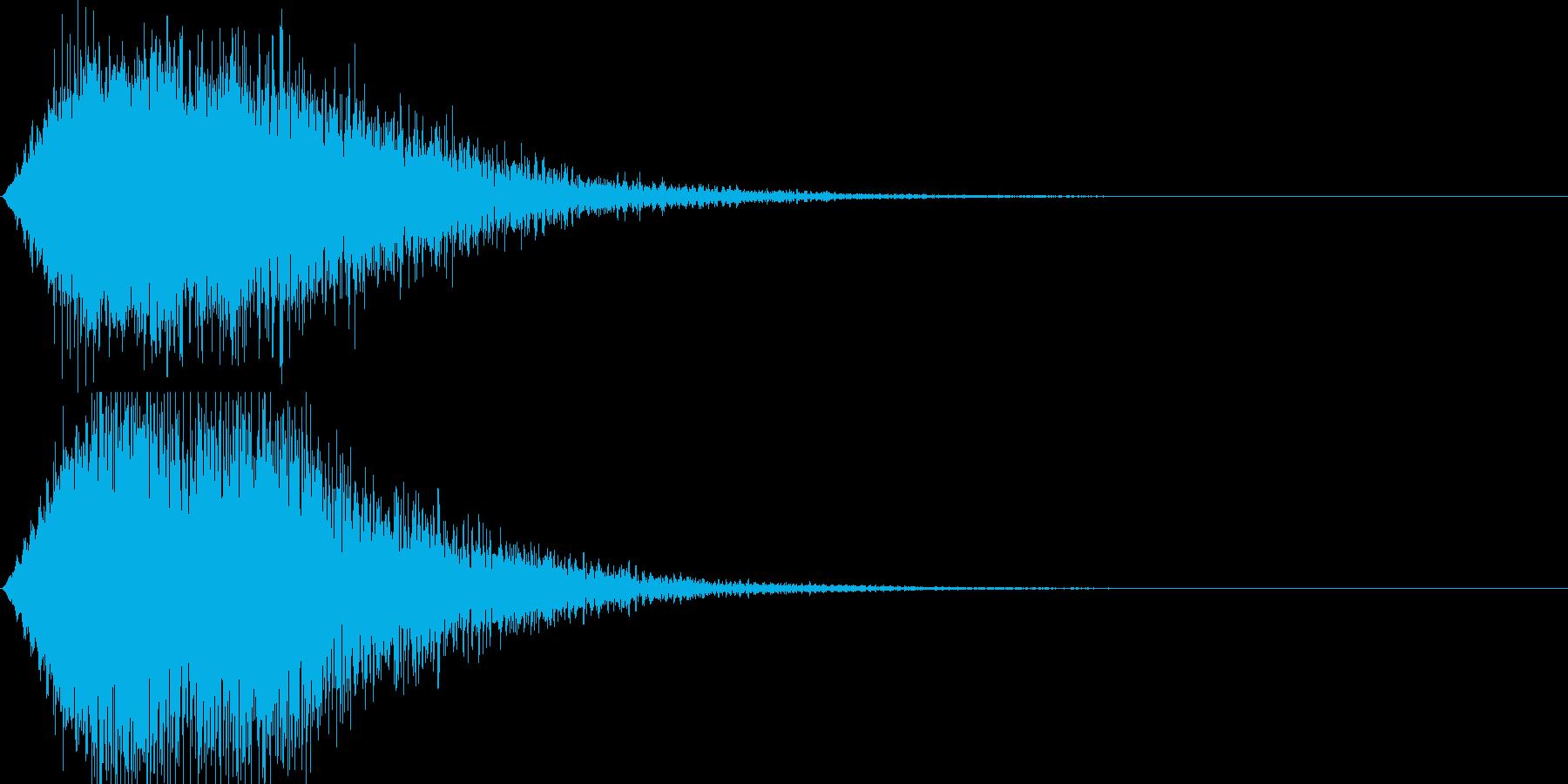RPGゲーム魔法の呪文の音の再生済みの波形