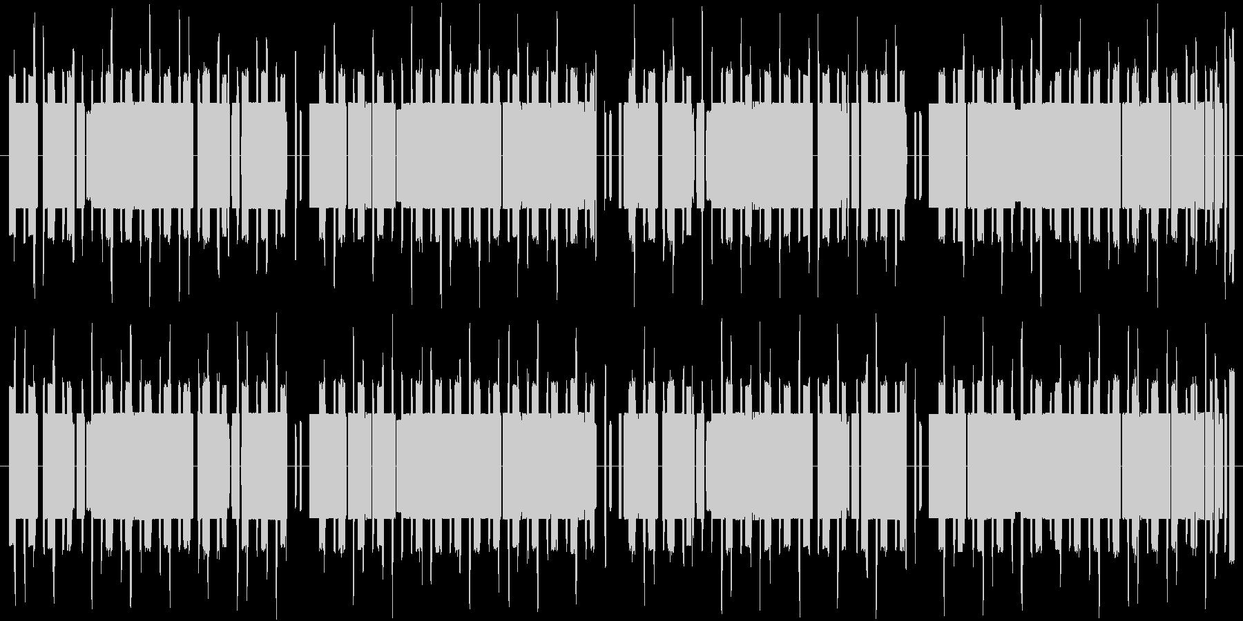 エスニックで怪しい8bitの未再生の波形
