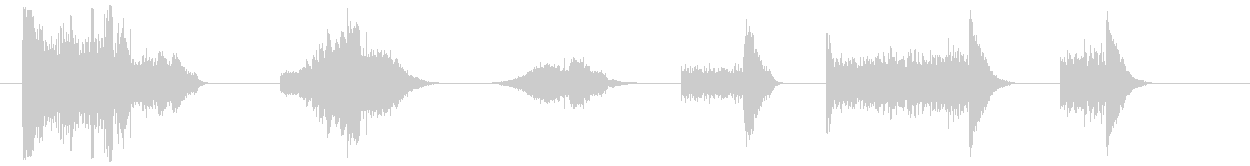 スネアドラム-2バージョン-漫画の未再生の波形