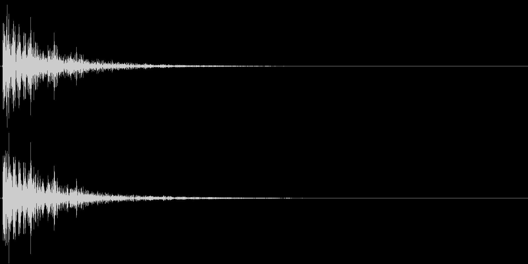 【生録音】金属音 物音 ステンレス製器具の未再生の波形