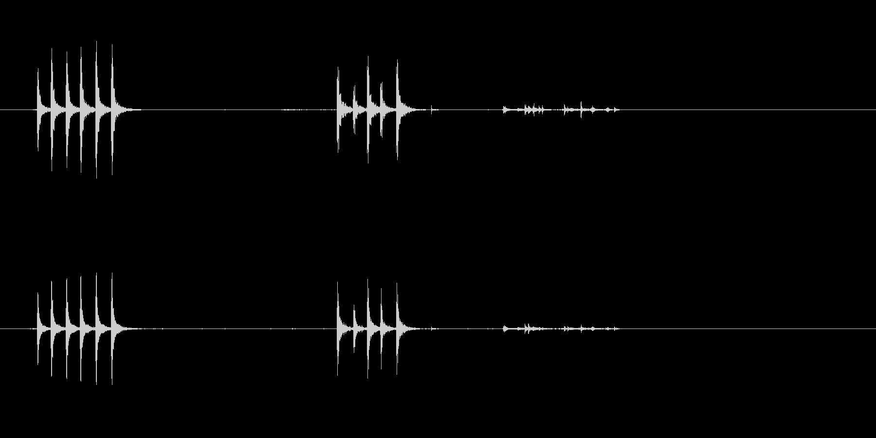 ドアノッキング-ドアノック-ドアD...の未再生の波形