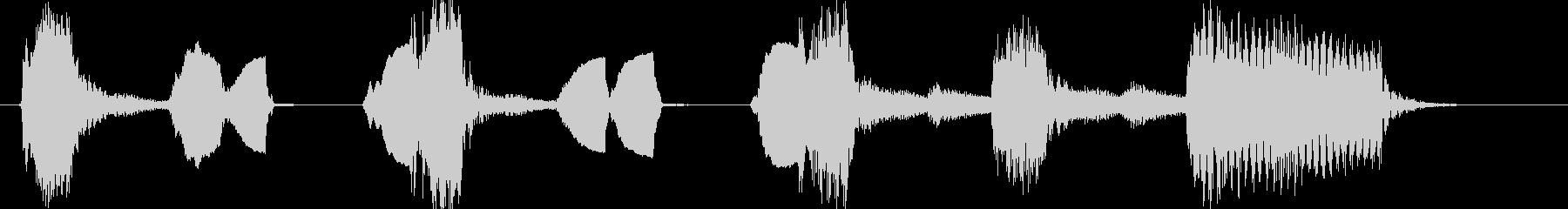 琴尺八でかわいいコミカルジングルの未再生の波形