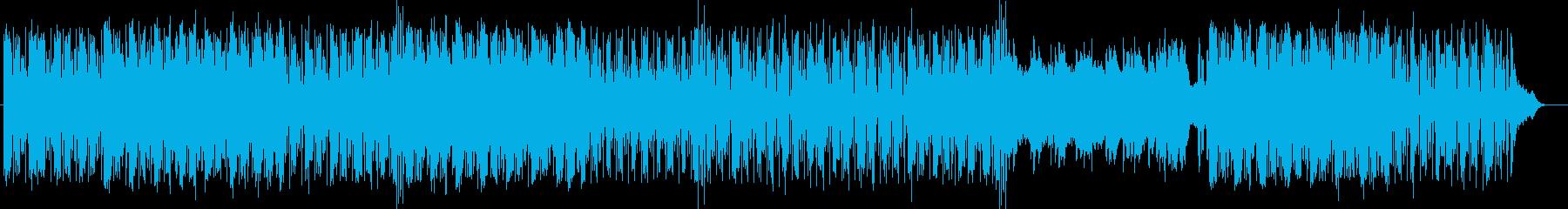 速いテンポのテクノバラードの再生済みの波形