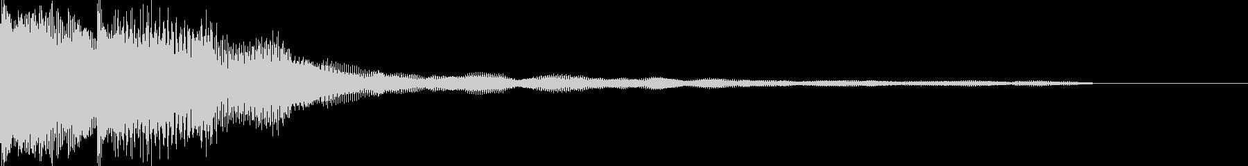 決定音 ボタンを押した音 ピロロンの未再生の波形
