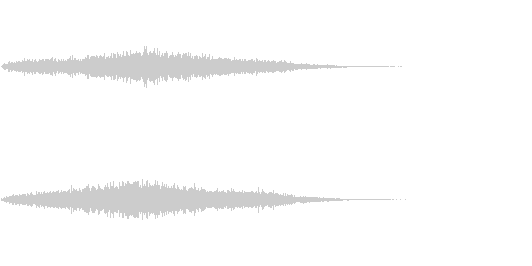 神秘的な音ですの未再生の波形