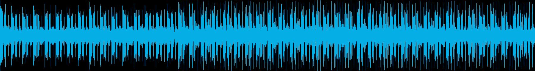 ギターとシンセによるクールなループ曲の再生済みの波形