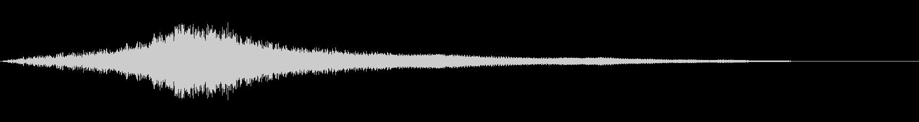 シュー:迫力ハイブリット音:オープニングの未再生の波形
