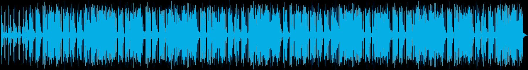 アコースティックベースとサックス主体の再生済みの波形