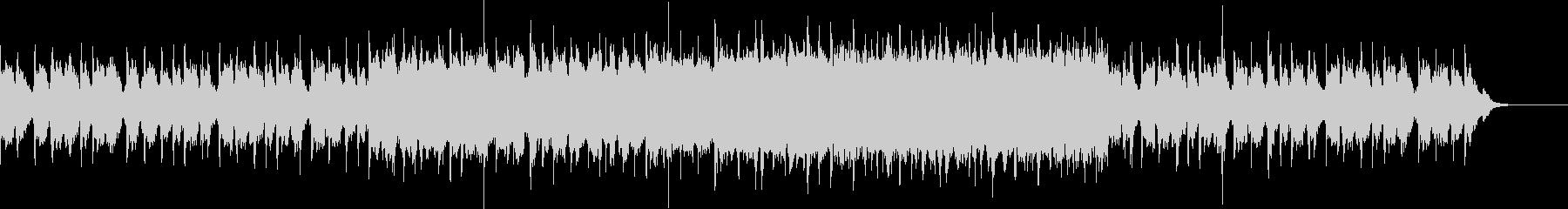 エレクトリックな音が重なり消えていく曲の未再生の波形